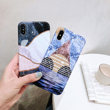 Marble Phone Case For iPhone 7 8 6 6S Plus 11 Pro Max X XR XS MAX Soft Silicone TPU Back Cover Phone Cases Coque Geometric Shell цена и фото