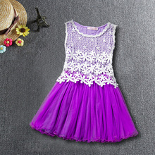 Princess Party Dresses For Girls Wedding Dresses Floral lace Kids Prom Dresses Summer 2017 Sundress 4 6 8 10 12 Years Vestidos kids dresses for girls clothing floral lace cotton sleeveless sling tulle party wedding dress children summer sundress vestidos