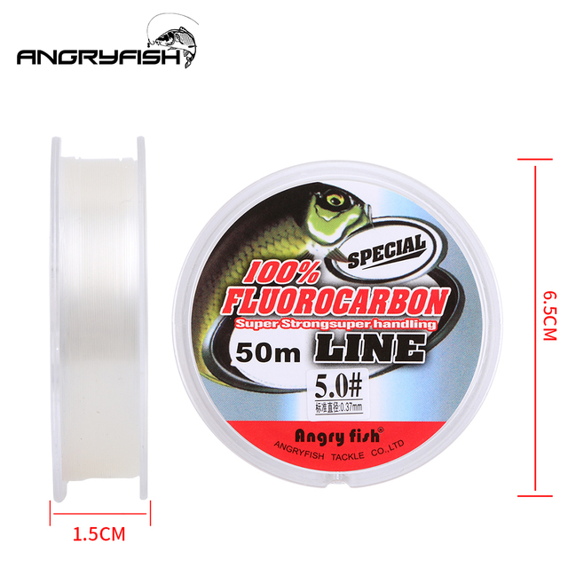 Perfect No1Fishing Line Angryfish Fluorocarbon Fishing Lines cb5feb1b7314637725a2e7: Clear Pink