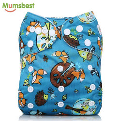 [Mumsbest] 2019 New Arrival Baby Cloth Diaper Cover Waterproof Cartoon Fox Baby Washable Diapers Pocket Reusable Cloth Nappies