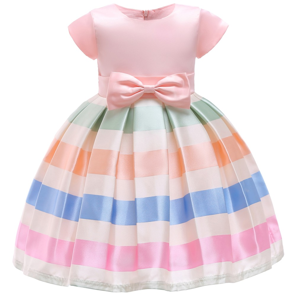 6eb0ff2278fe1a Beste Koop Baby Meisjes Streep Bloem Jurk Meisje Kleding Jurken Meisjes  Kinderen Meisjes Kerst Vestidos Kostuum Peuter Prinses Jurk Goedkoop