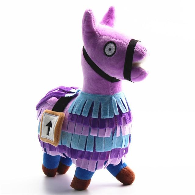 20 35cm Fortress Night Hot Game Plush Toy Troll Stash Llama Soft Alpaca Rainbow Horse Stash
