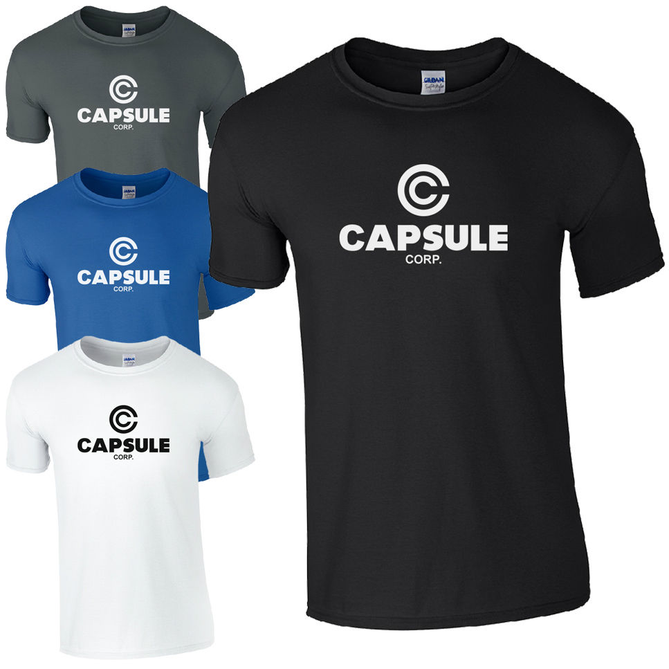 Shirt design china - Fashion Design Capsule Corp Dragon Ball Corporation Inspired Fan Top Men S Crew Neck Short