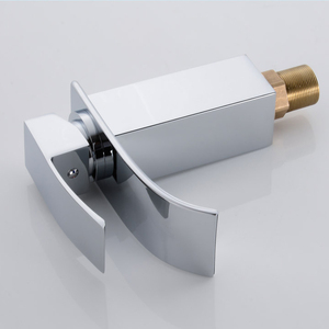 Image 2 - Wholesale And Retail Deck Mount Waterfall Bathroom Faucet Vanity Vessel Sinks Mixer Tap Cold And Hot Water Tap