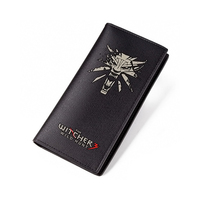 Black Men Long Purse The Witcher 3 Short PU Wallets For Teenagers Male Carteira High Quality