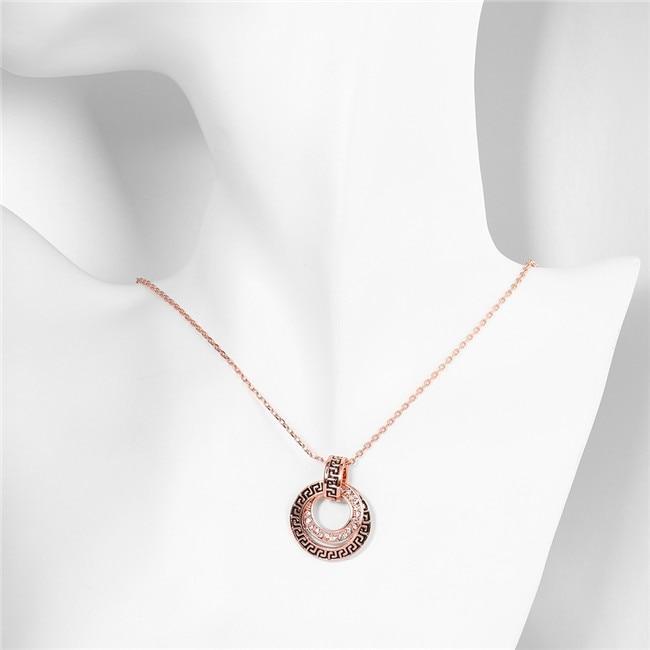 Aliexpresscom Buy Charm retro pendant necklace with zircon rose