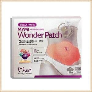 Image 1 - 120pcs wholesaler price MYMI Wonder Slimming Patch Belly Abdomen Weight Loss Fat Burning Cream Navel Stick Body Shapping Massage