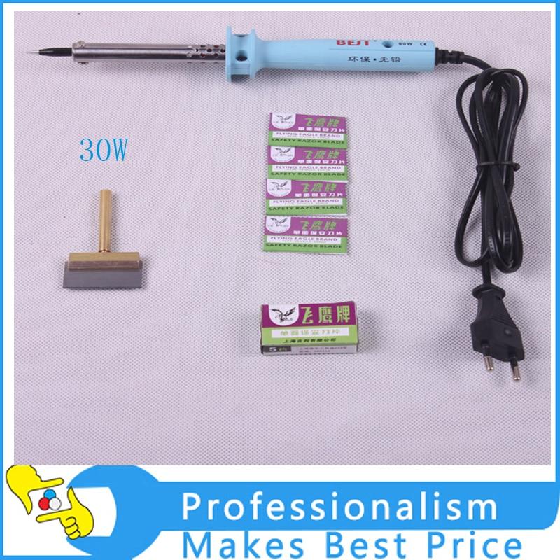 hot 220v soldering iron 30w t tip lcd screen separator uv glue remove tool ki. Black Bedroom Furniture Sets. Home Design Ideas