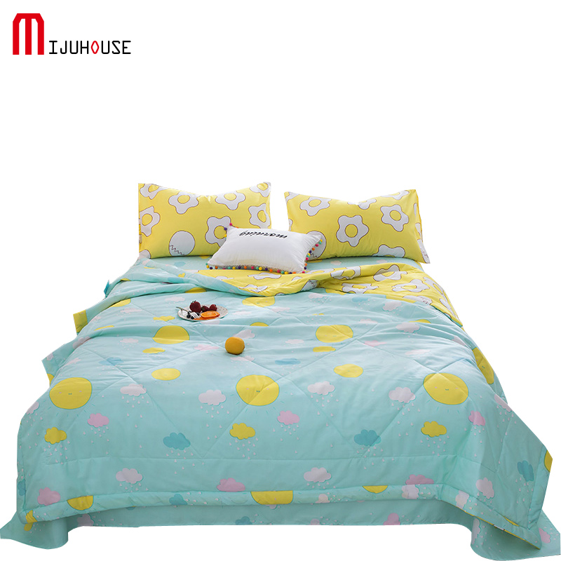 New 100% Polyester Quilt Bedding Sets Queen King Size Children Bed Bedding Set Quilt Duvets Fashion Pillowcases Flat Sheets 3Pcs