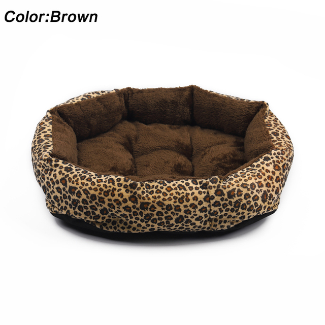 Hot sales! NEW! Colorful Leopard print Pet Cat and Dog Bed Pink, Yellowish brown, Purplish red, Brown, Gray, Yellow SIZE M,L 4