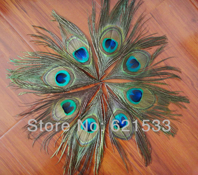 Wholesale 500Pcs Lot 15cm Lenghth Nature Peacock Eye Feathers Peacock Feather Eyes FREESHIPPING