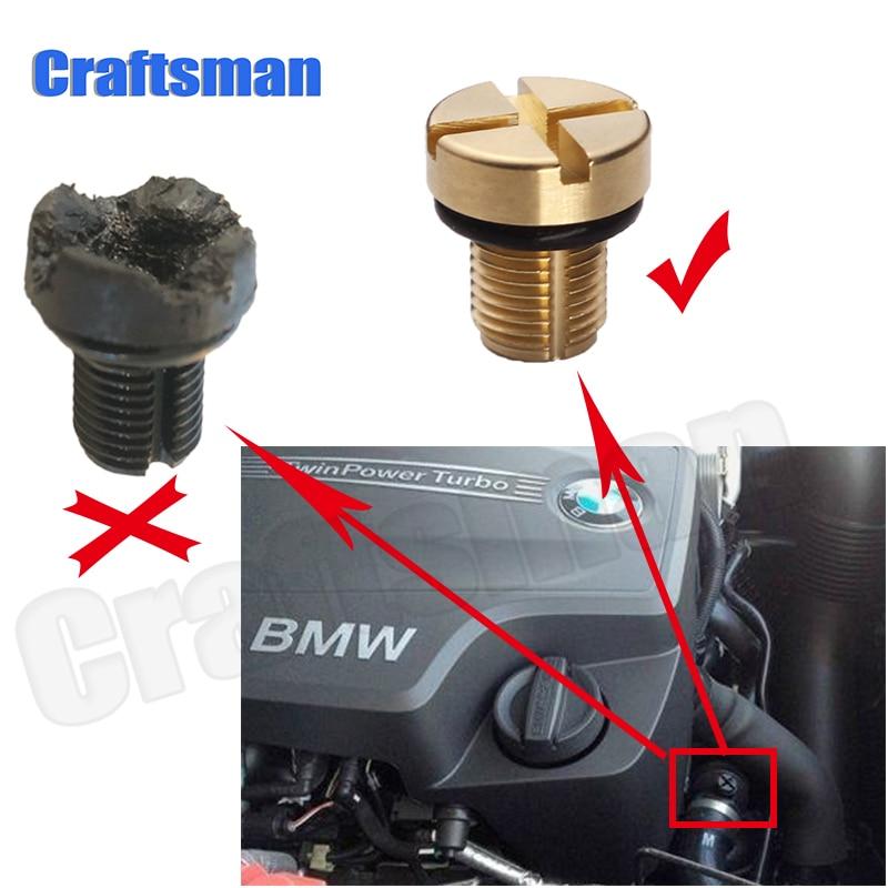 Brass Coolant Expansion Tank Bleeder Screw Fit For  BMW  E36 E39 E46 etc