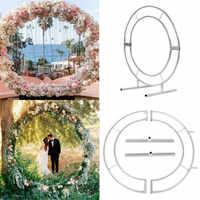 Círculo Arch Quadro Metal Redondo círculo Casamento Partido malha Pano de Fundo adereços de casamento e presente de Aniversário suprimentos Ao Ar Livre Indoor