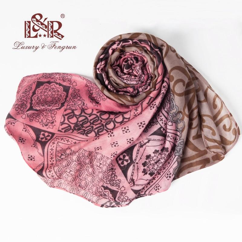 Bohemian Foulard Pint Women Scarf Summer Silk Scarves Femme shawl and - Հագուստի պարագաներ