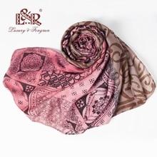 Foulard Bohemia Pint Mujer Bufanda Summer Silk Scarves Femme chal y Wraps Poliéster Bandana Mujer Bufanda Mujer Chiffon Hijab