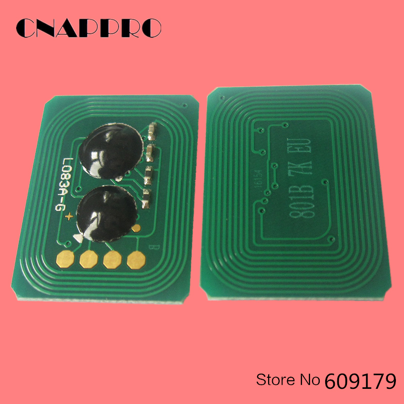 Compatível OKI 44845616 44844615 44844614 44844613 Toner de Impressora Chip Para Okidata C822 dados C 822 Cartucho De Recarga Resetter