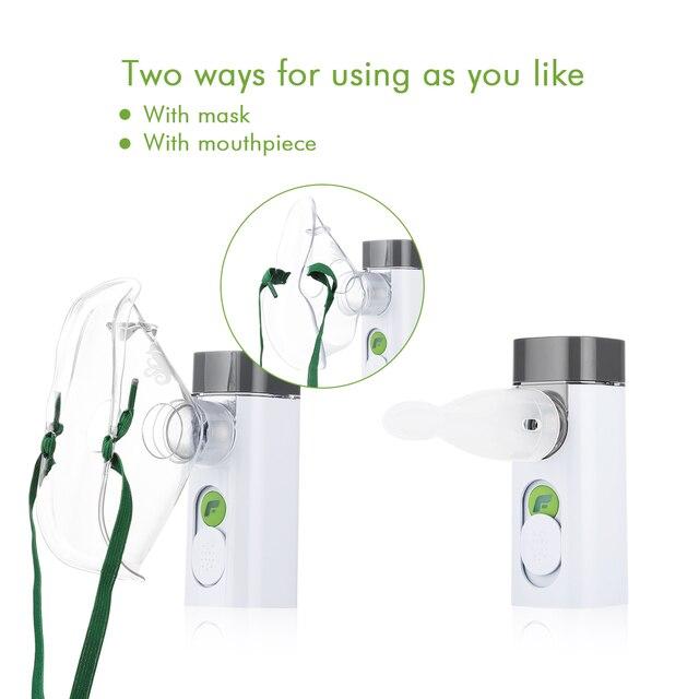 USB Rechargeable Ultrasonic Handheld Facial Steamer Mist Inhaler Vaporizer Personal Mist Inhaler Portable Mesh Nebulizer Facial Steamer