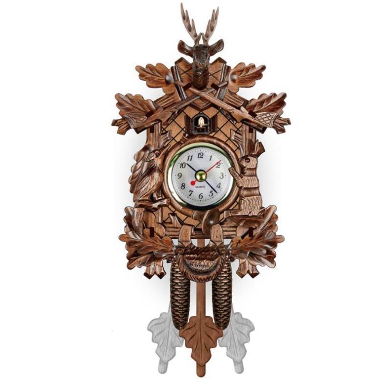 Superb Us 13 08 32 Off Living Room Pendulum Clock Craft Art Clock For New House Et Vintage Home Decorative Bird Wall Clock Hanging Wood Cuckoo Clock In Download Free Architecture Designs Rallybritishbridgeorg