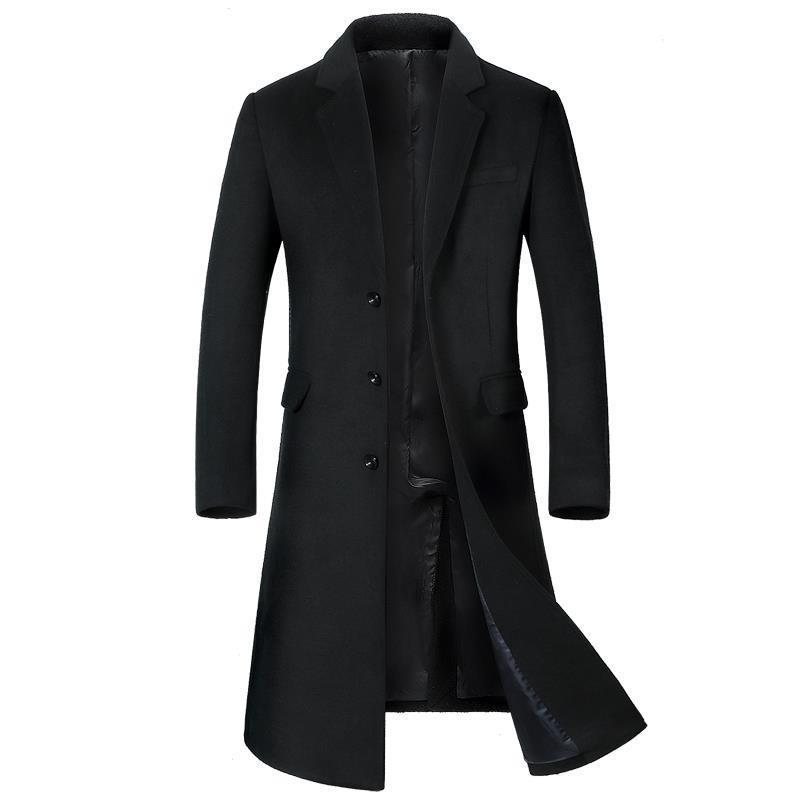 Fashion Casaco Overcoat Heren Jas And Jacket Plaszcz Moleton Masculino Windbreaker Palto Men Autumn Winter Wool Long Woolen Coat