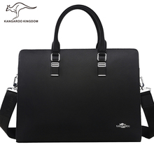 Kangaroo Kingdom Luxury Famous Brand Men Bag Split Leather Handbag Shoulder Bags Business Men Briefcase Laptop Bag
