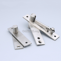 High Quality 2Sets 304 Stainless Steel Heavy Duty Door Pivot Hinges 360 Degree Rotation Hidden Door Hinges Install Up and Down