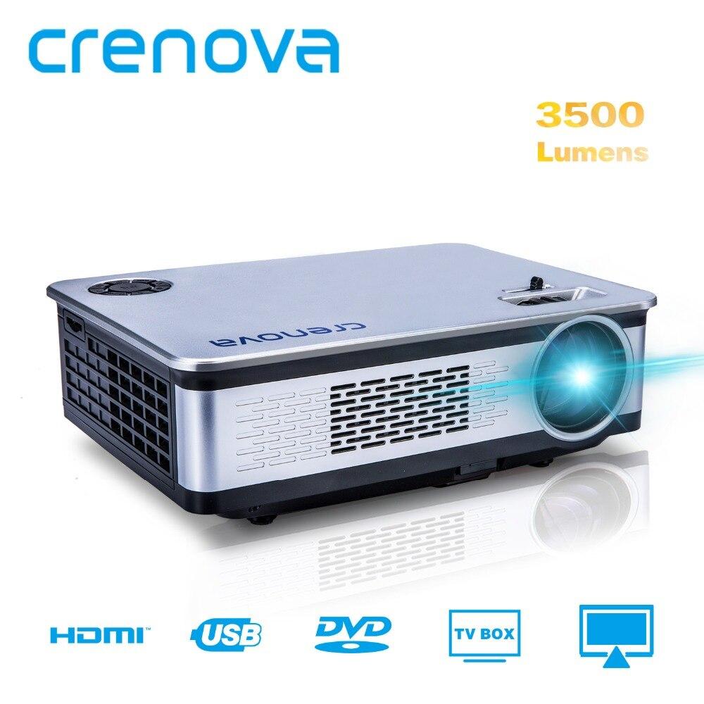 CRENOVA A76 Vidéo Projecteur Pour Full HD 1920*1080 p Home Cinéma Projecteurs 3500 Lumens Avec HDMI VGA AV USB LCD Beamer
