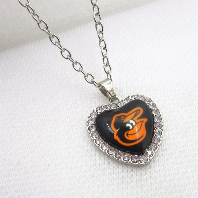 10pcslot heart mlb baltimore orioles necklace pendants with 50cm 10pcslot heart mlb baltimore orioles necklace pendants with 50cm chains baseball sports necklace jewelry aloadofball Gallery