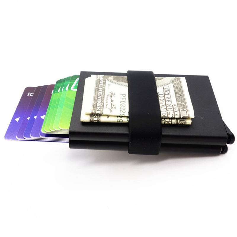 2018 Hot Sale Business Aluminum RFID Wallet Automatic Slide Card ...