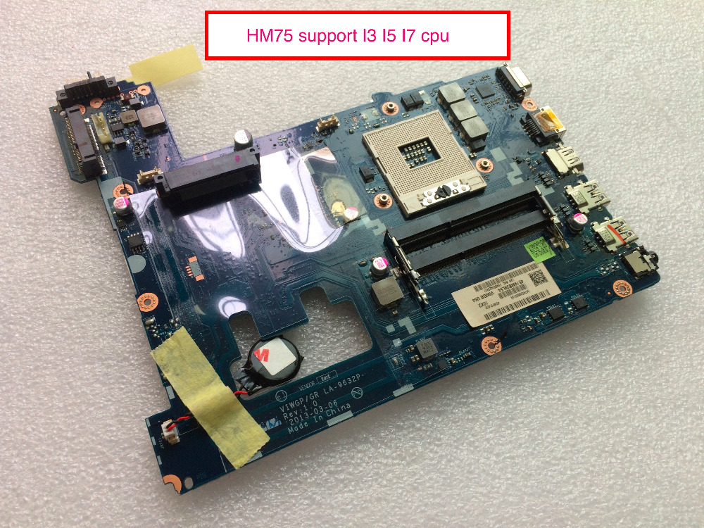 Original New Laptop motherboard For Lenovo G500 VIWGPGR LA-9632P HM75 ( Support I3 I5 I7 cpu ) brand new for lenovo b470 laptop motherboard 48 4kz01 021 mainboard