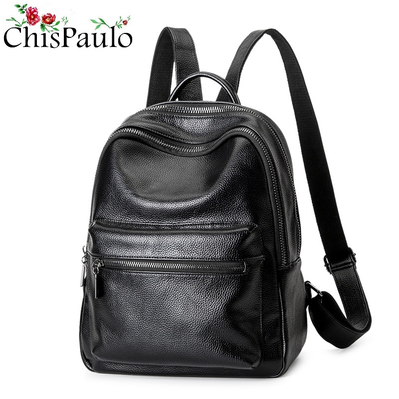 CHISPAULO 2017 Casual Women Genuine Leather Kanken Backpacks For Teenage Girls Fashion Women s Shoulder School
