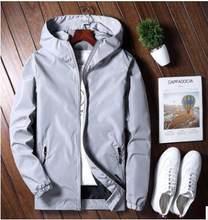 2018 nueva primavera y otoño con capucha de los hombres de la chaqueta de  los hombres chaqueta casual para los jóvenes 7d209a494b8
