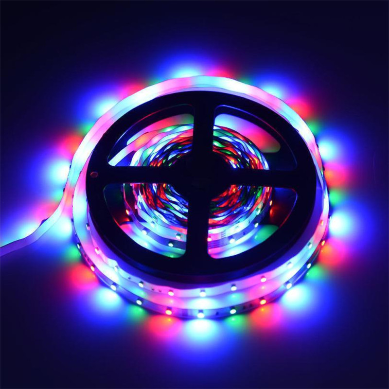 LED strip light lamp Remote Control IP60 3M 5M RGB 3528 180 LED Flexible Light Strip Lamp and 44 key IR Remote Controller 2018