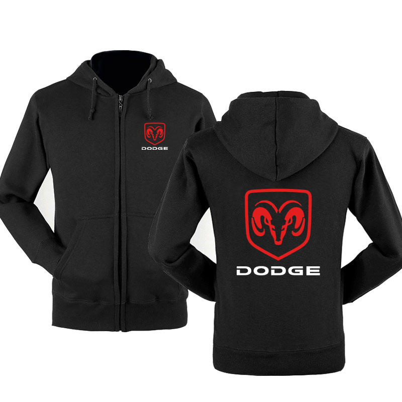 New Fashion Dodge Car Logo Sweatshirt Hoodies Men Hoody Spring Autumn Fleece Cotton Zipper Jacket HipHop Harajuku Male Clothing