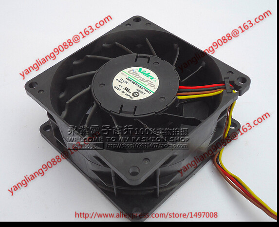 ФОТО Free Shipping For Nidec V80E12BS1N5-07T03A2 DC 12V 4.54A, 80x80x38mm 4-wire Server Square Cooling Fan