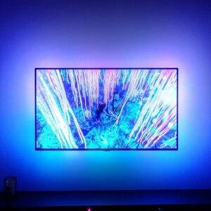 Image 3 - Ambilight ws2812b 5050 드림 컬러 rgb led 스트립 라이트 tv 모니터 데스크탑 pc 스크린 백라이트 조명 픽셀 테이프 리본 1 m ~ 5 m