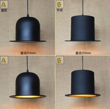 Loft nordique fer Art chapeau Droplight moderne pendentif LED luminaires pour salle à manger Bar suspension lampe lampara Colgantes