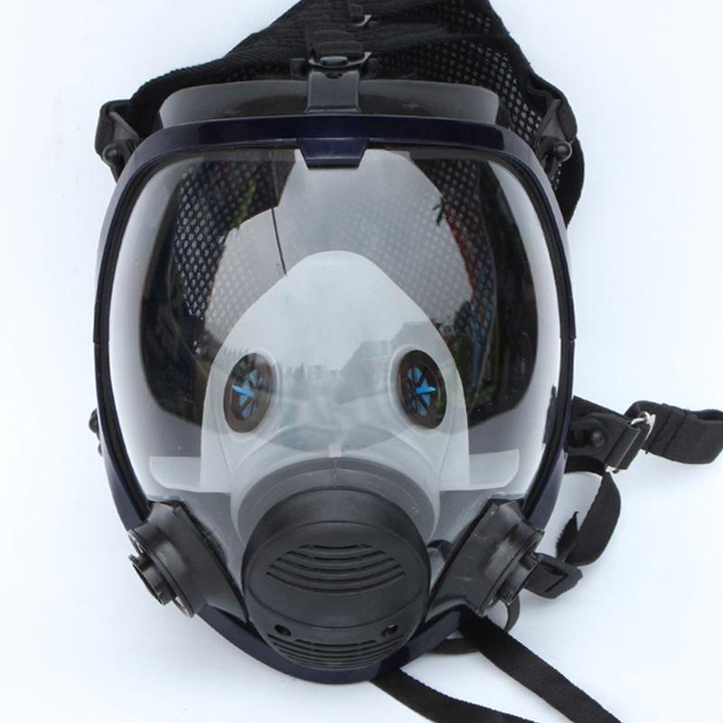 Full Face Gas Mask Chemical Respirator Anti-formaldehyde Silicone Against Organic Vapor/Gas KR007 1pcs double gas mask chemical gas respirator face masks filter chemical gas protected face mask with goggles