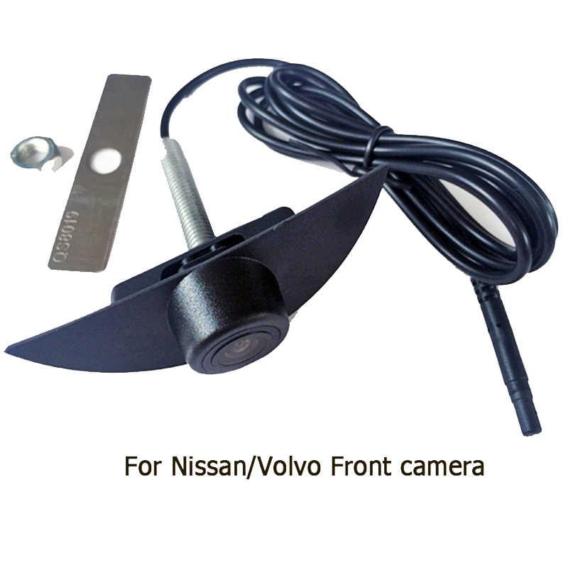600L CCD автомобиль логотип автомобиля вид спереди камерa для Volvo S60/XC60 для Nissan QASHQAI Ночное видение Водонепроницаемый парковочные комплекты