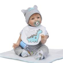 55cm Silicone Reborn Baby Boy Doll Toys Lifelike 22″ Reborn Babies Doll Play House Toy Kids Child Birthday Gifts Girl Brinquedos