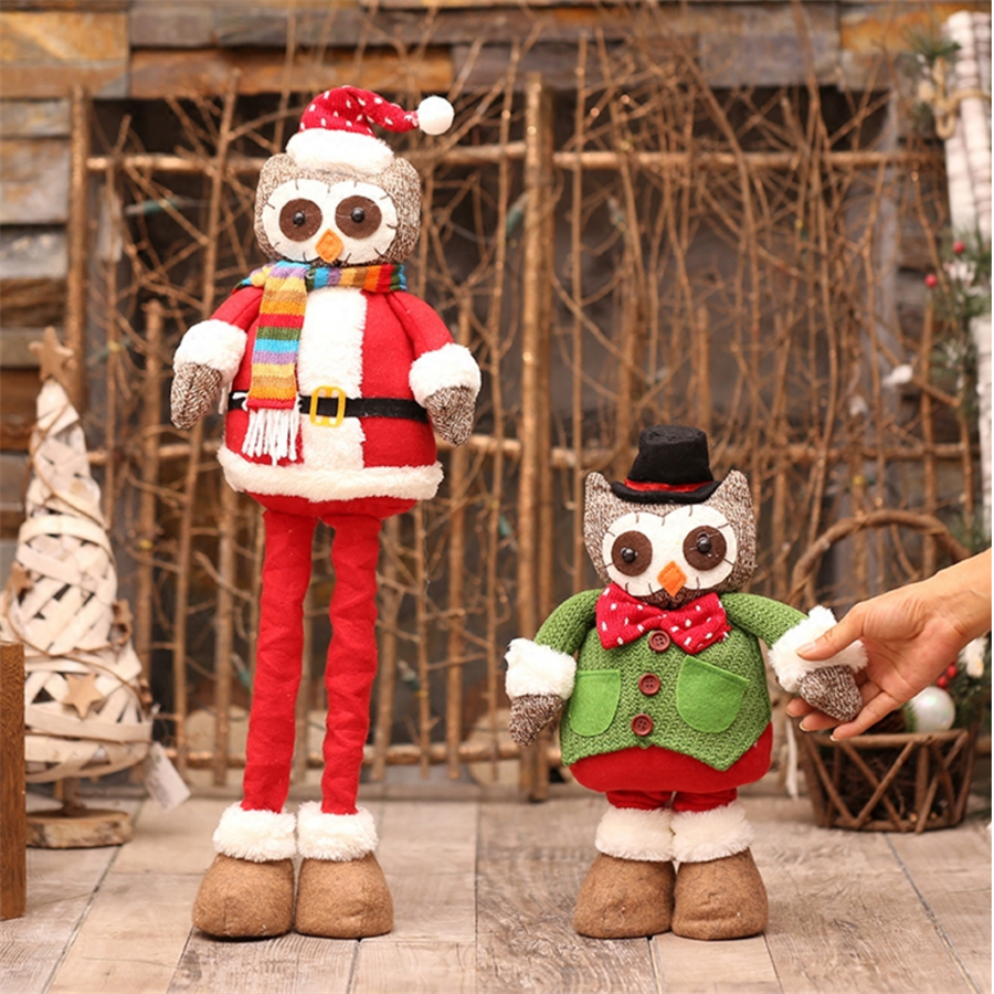 christmas decorations for home red retractable christmas owlmouse figurine christmas gift toy outdoor enfeite de natal in pendant drop ornaments from - Outdoor Owl Christmas Decorations