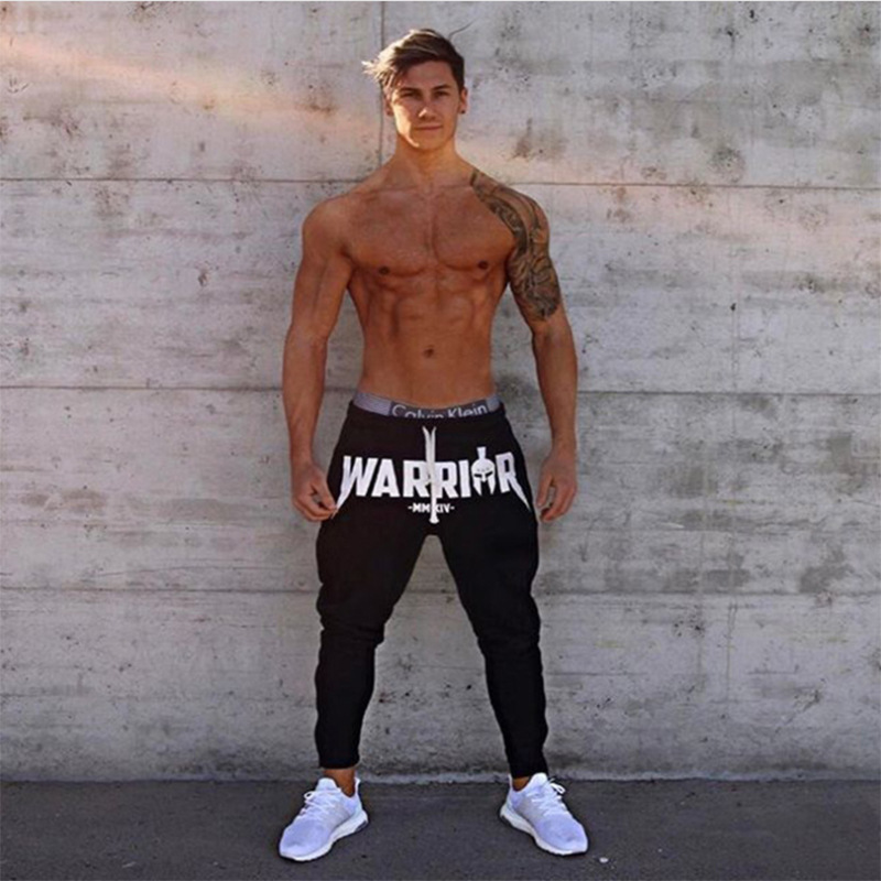 2018 Good Quality Cotton Jogger Pants Men Fitness Bodybuilding Gyms Pants For Runners Brand Clothing Hip-hop Streetwear Pants