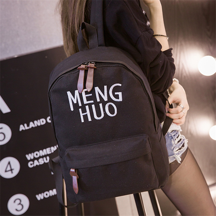 Women Backpack Girls Female School Shoulder Bag mochila Casual Bag Youth Teenage Backpacks Canvas High Quality Bagpack D146