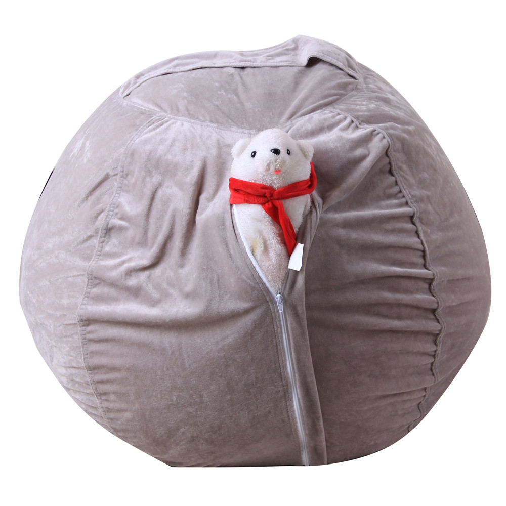 Kids Stuffed Animal Super Soft Short Plush Toy Large Capacity Storage Bean Bag Soft Pouch Stripe Fabric Chair Droship 23May 28 3
