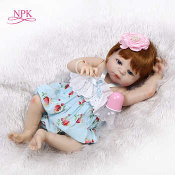 NPK 56cm Full Body Silicone Reborn Baby girl Doll Realistic Newborn Babies Bonecas Child Birthday Gift Play House bath toy - DISCOUNT ITEM  53 OFF Toys & Hobbies