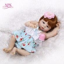 NPK 56cm Full Body Silicone Reborn Baby girl Doll Realistic Newborn Babies Bonec
