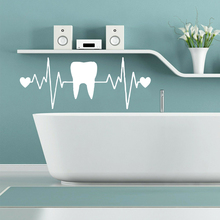Wall Decal Teeth Pvc Stickers Art For Bath Rooms Nursery Room Decor Commercial Decals vinilo pared