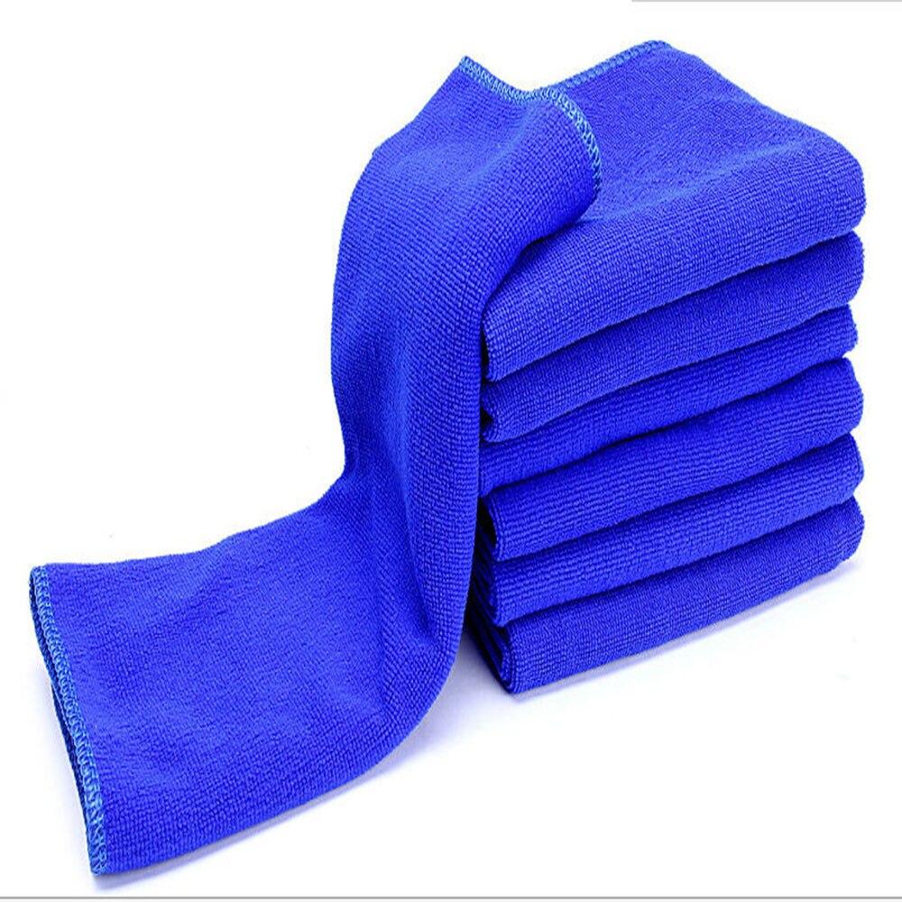 auto car styling 6 pc blue 30 30cm soft car wash car detailing microfiber towel felt auto wash. Black Bedroom Furniture Sets. Home Design Ideas