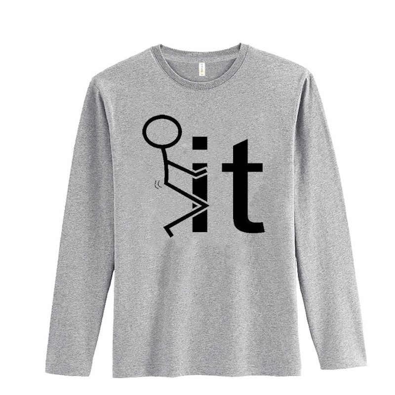 Vendita calda F È Tshirt Lunghe Degli Uomini Del Manicotto di Modo di Autunno della Molla Tee Camicia Da Uomo In Cotone Divertente di Alta Qualità di Hip Hop uomini della maglietta di Marca