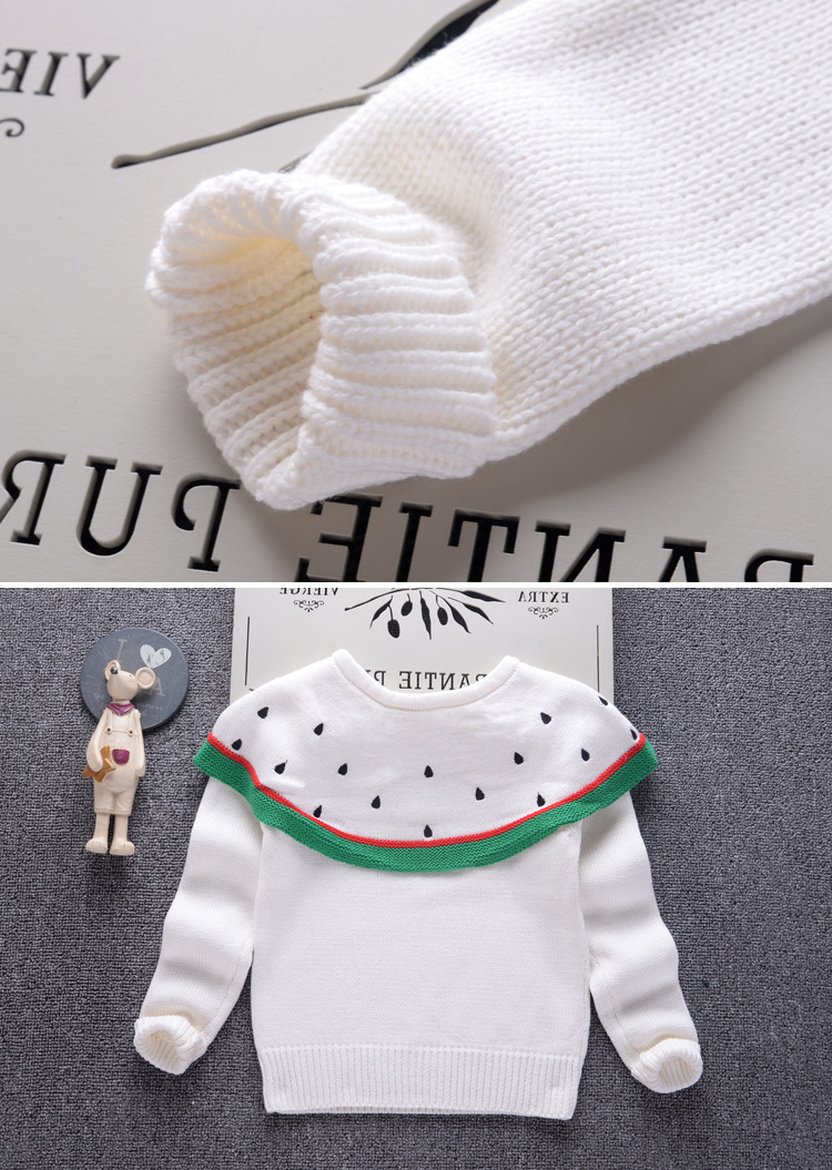 a2456fab0 Baby Girls Sweater 2018 Fall Fashion Design Watermelon Sweaters For ...