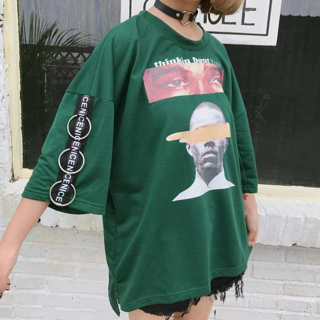 b2aa4ee86228 placeholder 2017 Halajuku Summer Oversize Loose Fashion Character Printed  All Match Street Style Short Sleeve Female T